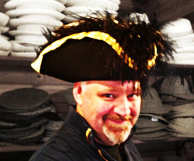 Tricorn hat fitting