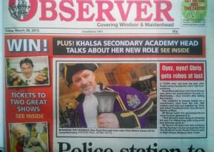 windsor observer front page