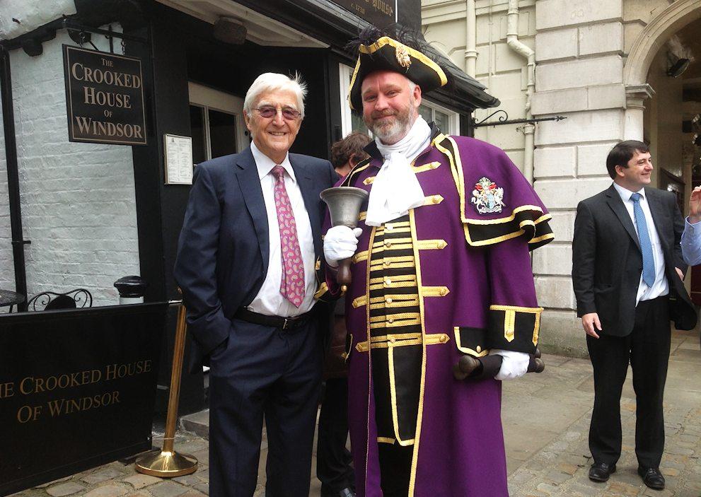 Sir Michael Parkinson and Chris Brown