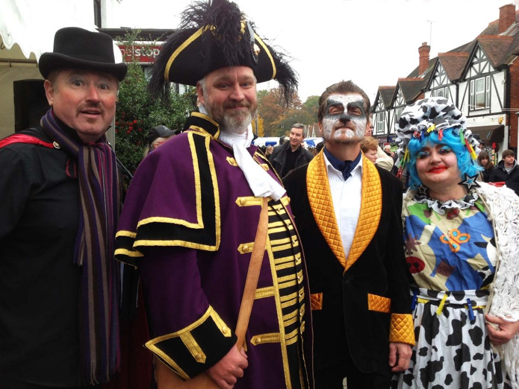 with local panto stars