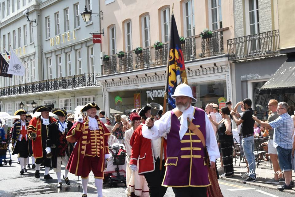 Town Criers procession on Windsor High Street